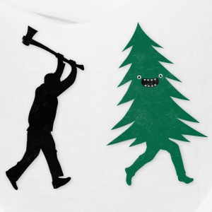 Funny Christmas Tree Hunted by lumberjack Humor Caps - Bandana