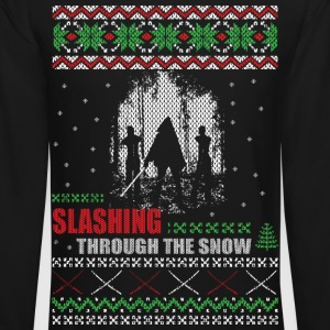 Zombie Christmas Sweater - Michonne  - Crewneck Sweatshirt