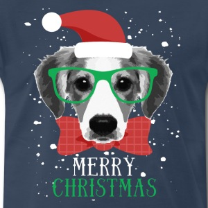 Merry Christmas Dog T-shirt T-Shirts - Men's Premium T-Shirt
