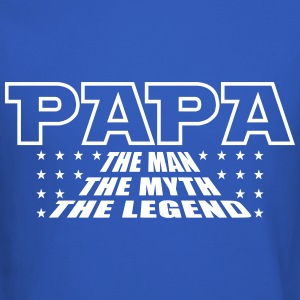 Papa Man Myth Legend Long Sleeve Shirts - Crewneck Sweatshirt