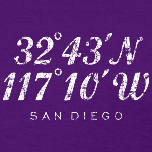 San Diego T-Shirt (Women/Purple) Coordinates - Women's T-Shirt