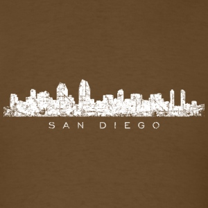San Diego T-Shirt (Men/Brown) Skyline - Men's T-Shirt