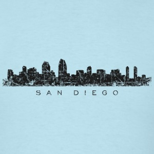 San Diego T-Shirt (Men/Light Blue) Skyline - Men's T-Shirt