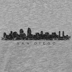 San Diego T-Shirt (Men/Gray) Skyline - Men's Premium T-Shirt