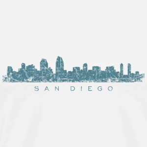 San Diego T-Shirt (Men/White) Skyline - Men's Premium T-Shirt