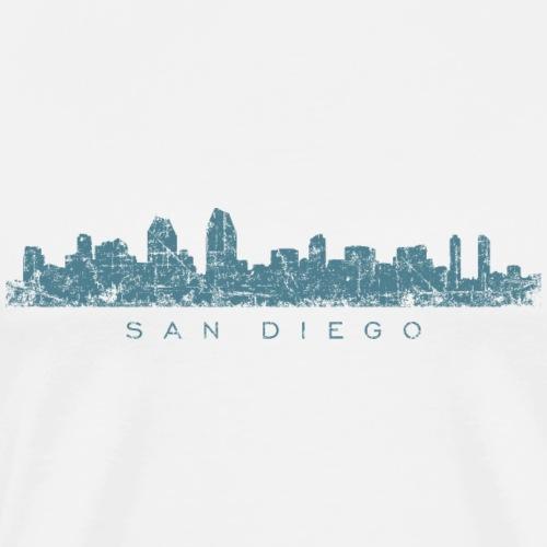 San Diego Skyline Vintage Blue