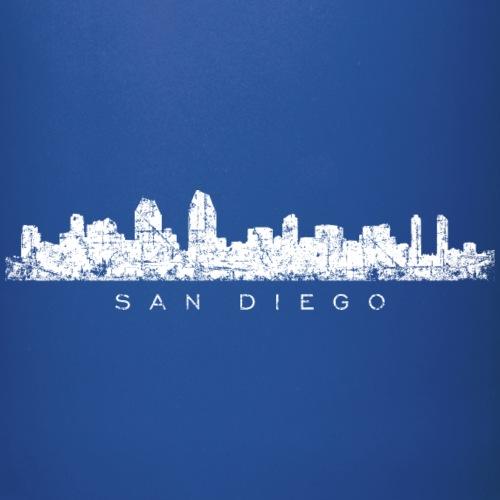 San Diego Skyline Vintage White