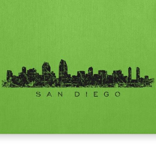 San Diego Skyline Vintage Black