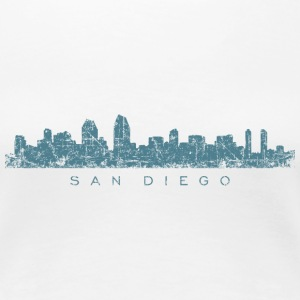San Diego T-Shirt (Women/White) Skyline - Women's Premium T-Shirt