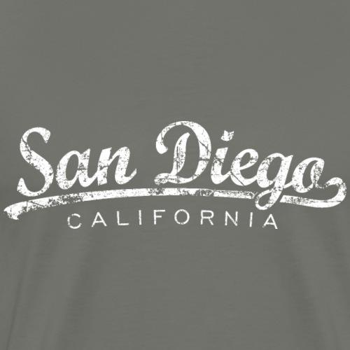 San Diego, California Classic Vintage White