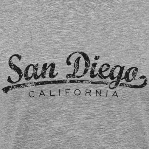San Diego, California Classic Vintage Black
