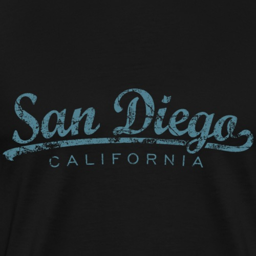 San Diego, California Classic Vintage Blue