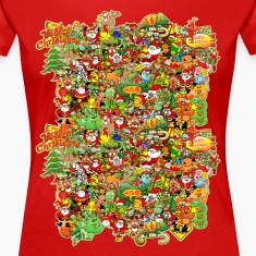 In Christmas Melt into the Crowd and Enjoy Women's T-Shirts