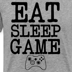 Eat Sleep Game Gamers funny - Men's Premium T-Shirt
