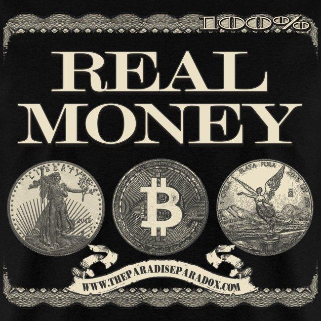 Real Money men's tee full border