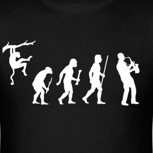 Evolution of Man Saxophone - Men's T-Shirt