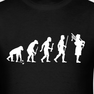 Evolution of Man Bagpipes - Men's T-Shirt