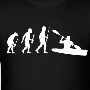 Evolution of Man Kayaking - Men's T-Shirt