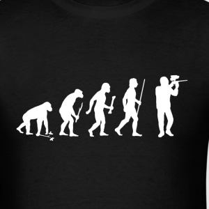 Evolution of Man Paintball - Men's T-Shirt