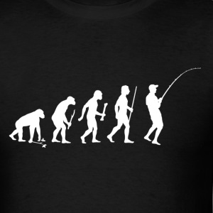 Evolution of Man Fishing - Men's T-Shirt
