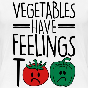 vegetables have feelings too Women's T-Shirts - Women's Premium T-Shirt