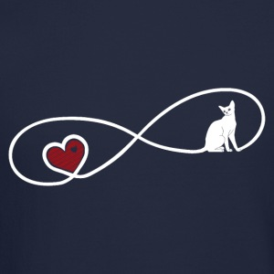 Infinity Cat Love Long Sleeve Shirts - Crewneck Sweatshirt