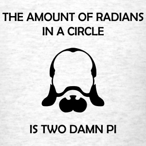 the amount of radians in a circle is 2 damn pi - Men's T-Shirt