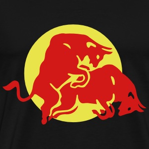 Red Cow and Bull - Men's Premium T-Shirt