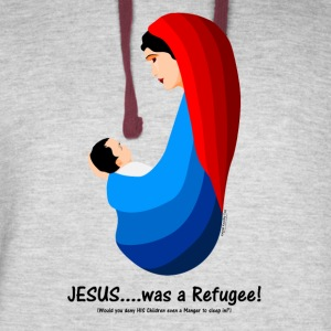 Jesus...was a Refugee! Hoodies - Colorblock Hoodie