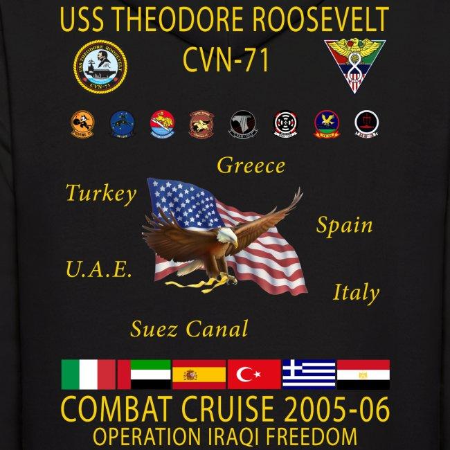 USS THEODORE ROOSEVELT 2005-06 CRUISE HOODIE