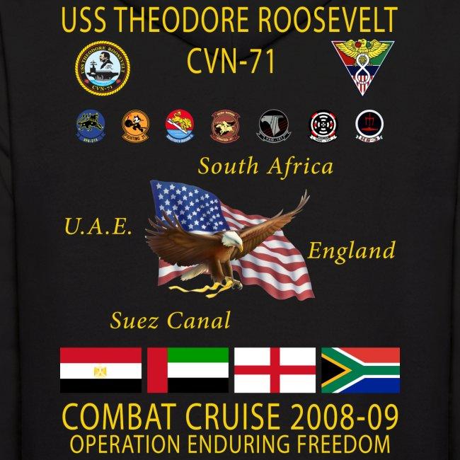 USS THEODORE ROOSEVELT 2008-09 CRUISE HOODIE