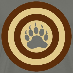 Bear Pride Super Hero Shield Bear Paw - Men's Premium T-Shirt