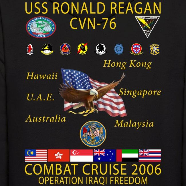 USS RONALD REAGAN 2006 CRUISE HOODIE