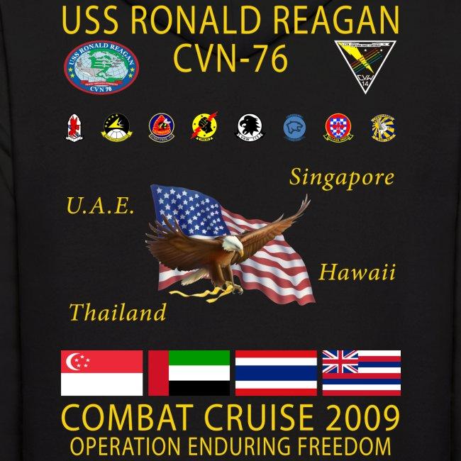 USS RONALD REAGAN 2009 CRUISE HOODIE