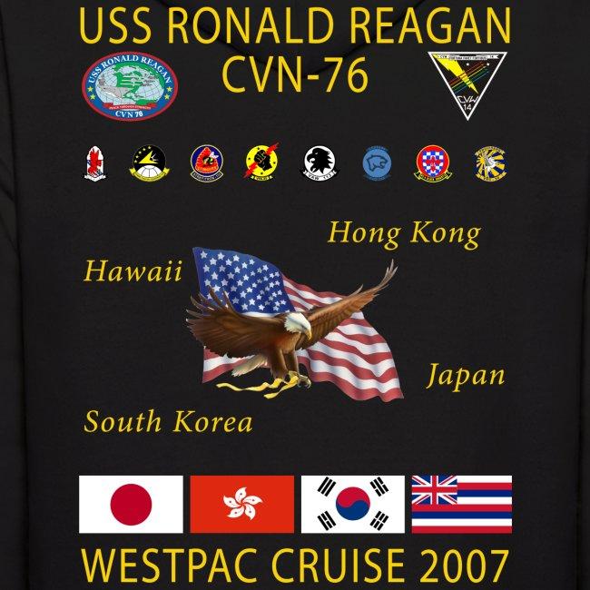 USS RONALD REAGAN 2007 CRUISE HOODIE