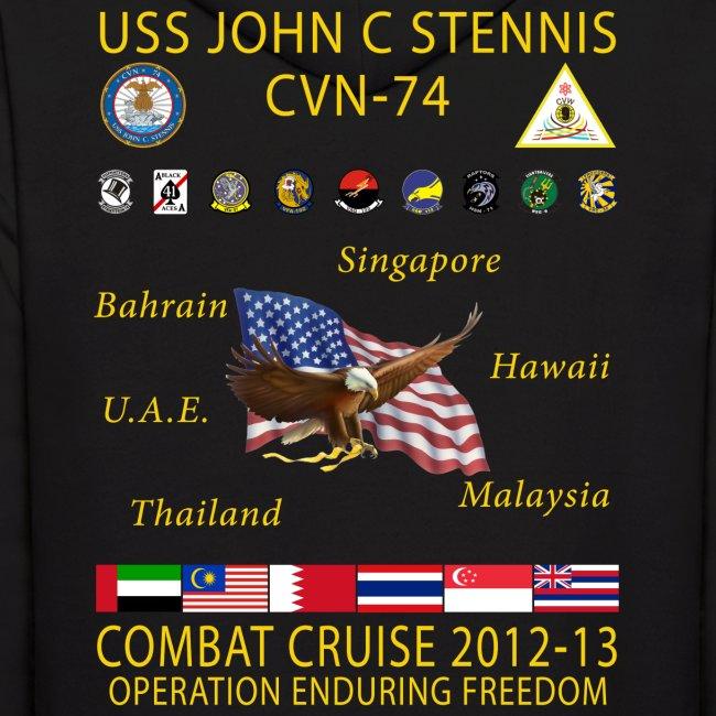 USS JOHN C STENNIS 2012-13 CRUISE HOODIE
