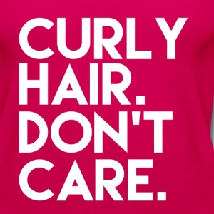 Curly Hair Don't Care funny - Women's Premium Tank Top