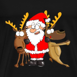 Santa and his Friends T-Shirts - Men's Premium T-Shirt