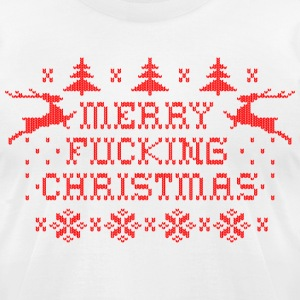 Merry Fucking Christmas T-Shirts - Men's T-Shirt by American Apparel