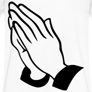 praying hands T-Shirts - Men's V-Neck T-Shirt by Canvas
