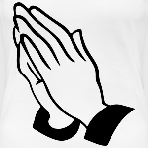 praying hands Women's T-Shirts - Women's Premium T-Shirt