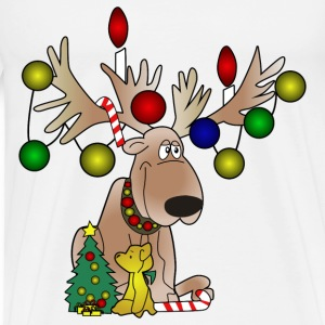 Christmas Moose - Men's Premium T-Shirt