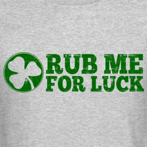 Rub Me For Luck Long Sleeve Shirts - Crewneck Sweatshirt