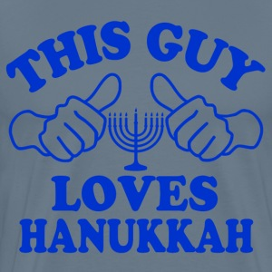 This Guy Loves Hanukkah T-Shirts - Men's Premium T-Shirt