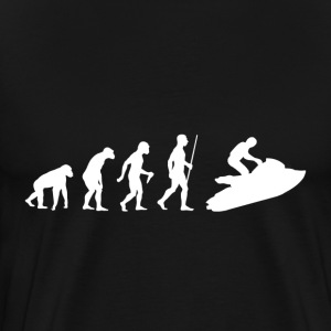 Evolution of Man Jet Ski - Men's Premium T-Shirt
