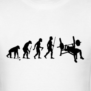 Evolution of Man Bench Press - Men's T-Shirt