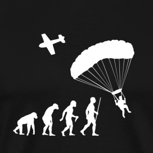 Evolution Man Sky Diving - Men's Premium T-Shirt