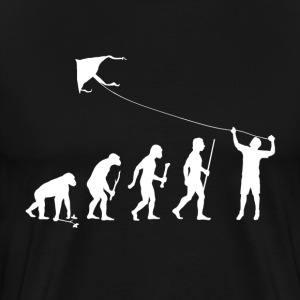 Evolution Man Kite Flying - Men's Premium T-Shirt