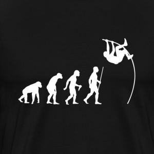 Evolution Man Pole Vaulting - Men's Premium T-Shirt