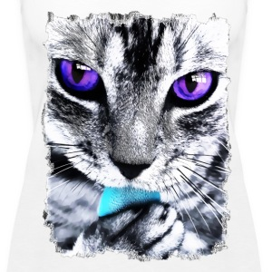 Purple eyes Cat - Women's Premium Tank Top